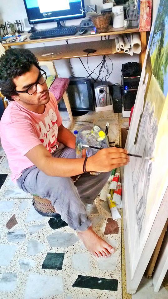 Manish at work