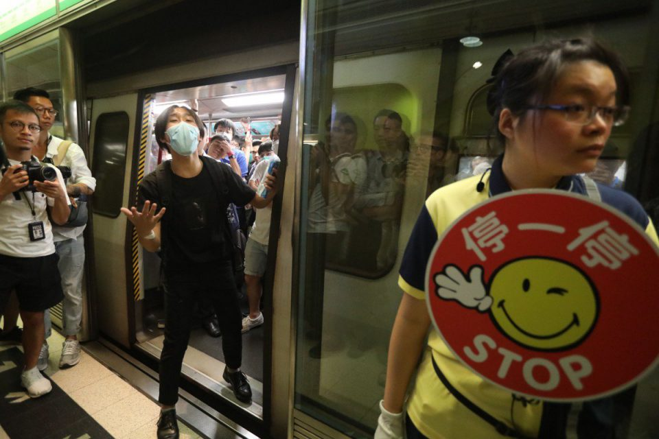 Hong Kong Rail Services hit as protesters target trains
