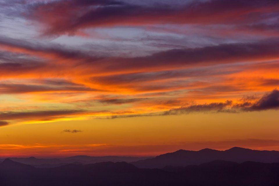 Aizawl-A beautiful view of Sunset